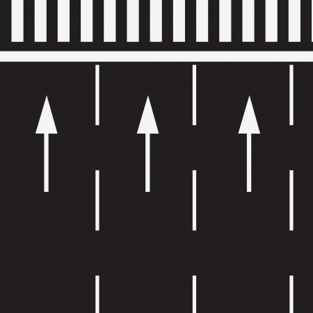 road marking: The marking of the road at a pedestrian crossing. Vector illustration.