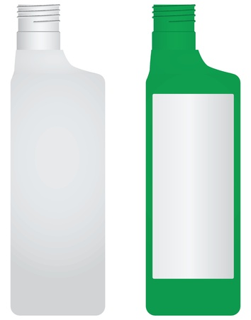 Plastic bottle without a lid. Options - painted and unpainted illustration.