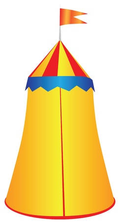Game canopy for a king illustration. Vector
