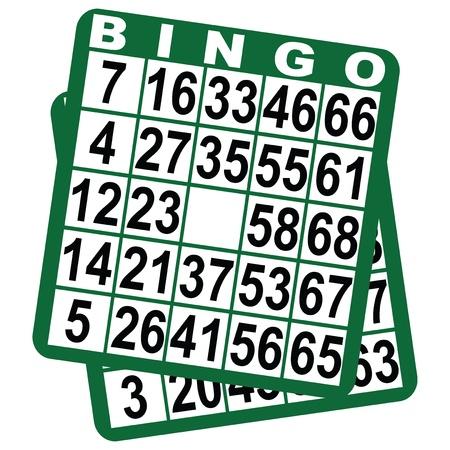 bingo: Cart�n de bingo en un fondo blanco ilustraci�n.