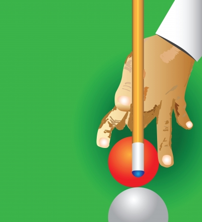 recreation rooms: Billiard theme, the man hit the white ball illustration