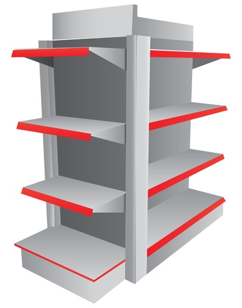 retail display: Stand for the product in the store or at the show illustration  Illustration