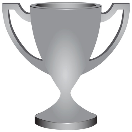 Silver Cup award for his achievements illustration. 일러스트