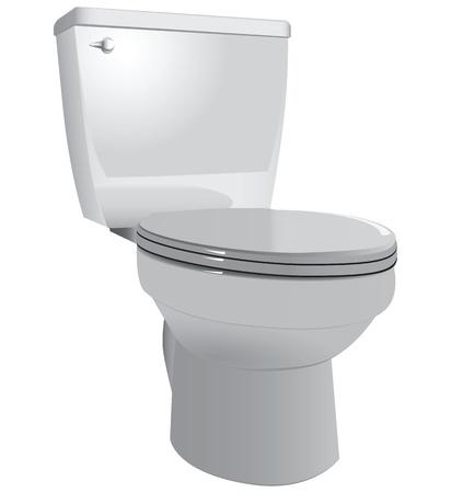 図ダウンふた付けトイレに便器。