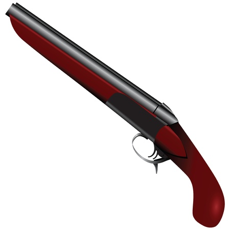 assasin: Short-barreled shotgun with two barrels illustration.