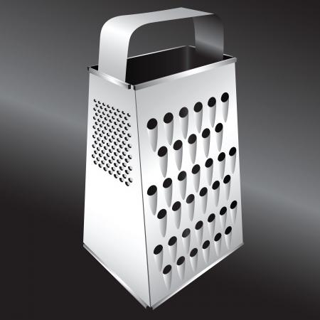 metal grater: Steel kitchen grater for cooking food.