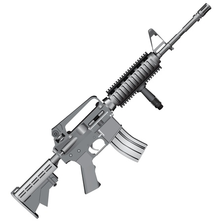 carbine: M4 carbine is armed with the U.S. Army.  Illustration