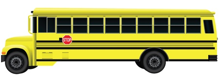A vehicle for transporting children - school bus.  Vector