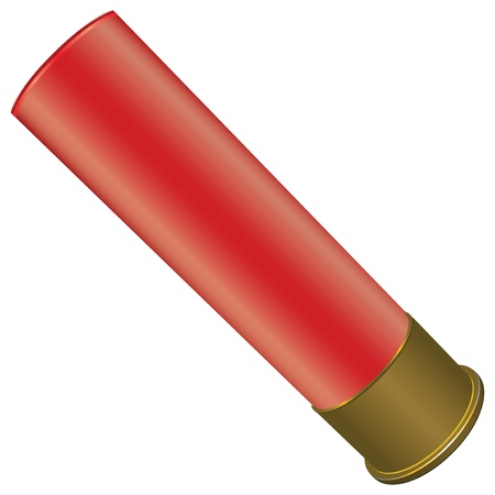Shotgun Shell for sport hunting.  Vector
