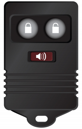 Car key fob remote access to the machine. Vector illustration. Vector