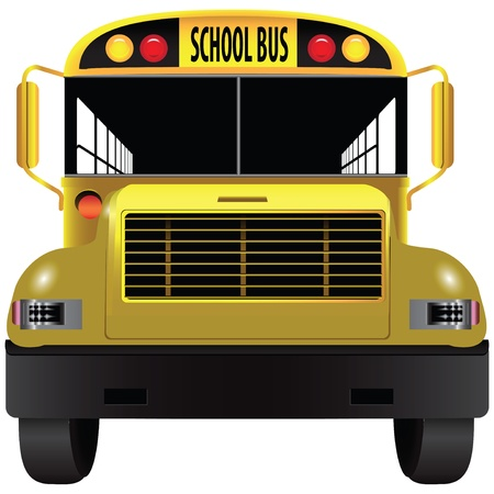 A vehicle for transporting children - school bus. Vector illustration. Vector