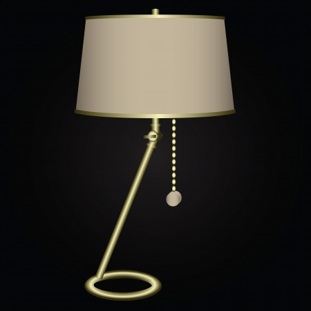 Table lamps include the chain. Vector illustration.