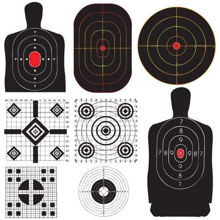 Een professionele set doelstellingen voor de opleiding. Vector illustratie.