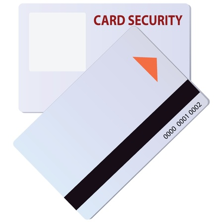 credential: Security card with a magnetic strip for identification.