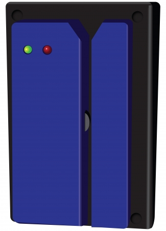 Magnetic security lock for doors with two indicators.