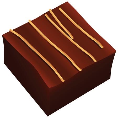 正方形キャンデー杖は、ホワイト チョコレートで飾られて。