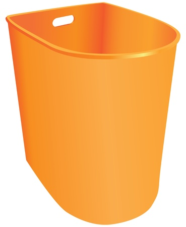Plastic garbage container without a lid. Vector illustration.