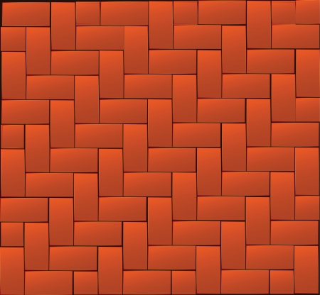 interior decoration: Background of brick with original packing. Vector illustration.
