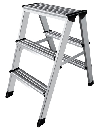Easy step ladder two steps. Vector illustration. Vector
