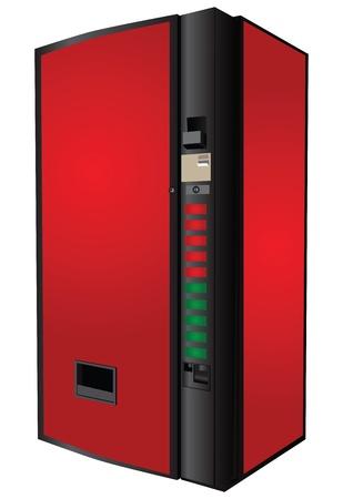 Automaat voor de verkoop van frisdranken. Vector illustratie.
