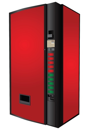 Vending machine for the sale of soft drinks. Vector illustration. Vettoriali