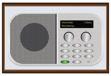 player controls: Reproductores de CD digital en el dise�o retro. Ilustraci�n del vector. Vectores