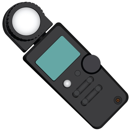 Exposure meter - a device for measuring the brightness. Vector illustration. Illustration