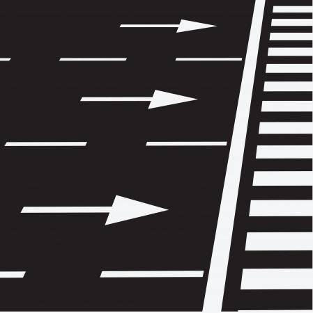 Le marquage de la route ? un passage pour pi?tons. Vector illustration. Vecteurs