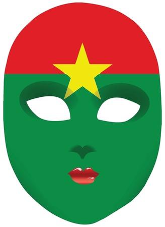 statehood: Classic mask with symbols of statehood of Burkina Faso. Vector illustration