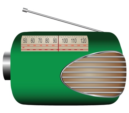 With the old style radio dial. Vector illustration.