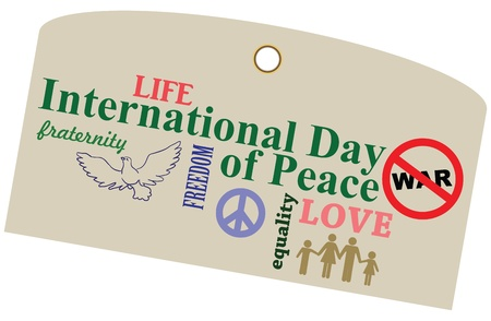 A shortcut to the International Day of Peace. Vector illustration.