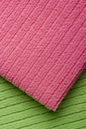 absorb: Background of colored terry towels. Textured fabric.