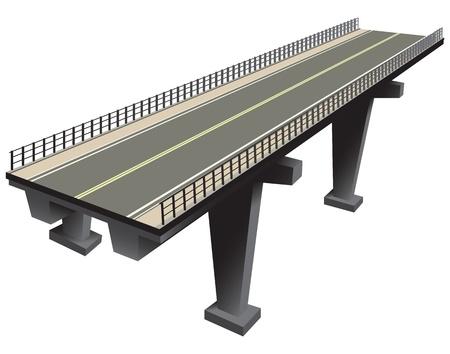 Le tracé de l'autoroute, de la technologie moderne. Vector illustration.