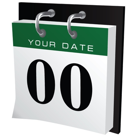 schedule system: Office calendar with the ability to put your own date. Vector illustration.