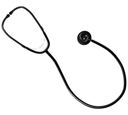 medical equipment: Medical stethoscope - research equipment in medical practice. Vector illustration.