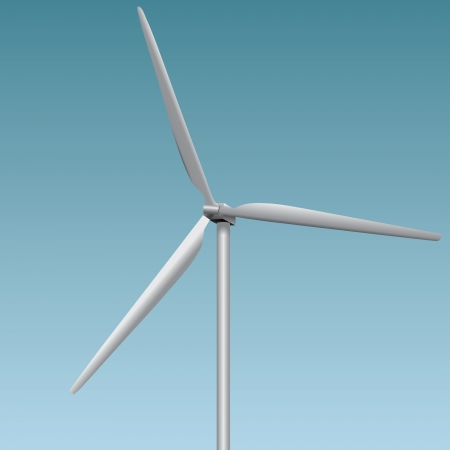 regenerating: Wind generator - a device converting wind power into electricity. Vector illustration.