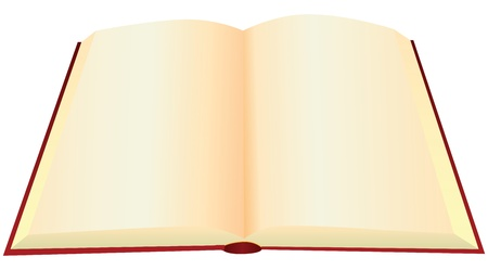 Reversal of an old book with blank pages. Vector illustration. Vector