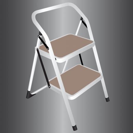 2 つの手順で家庭用はしご。ベクトルの図。