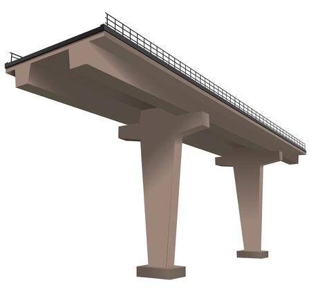 Plot of the highway, the modern technology. Illustration