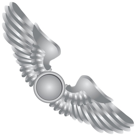 Symbolic wings in the emblem. 일러스트