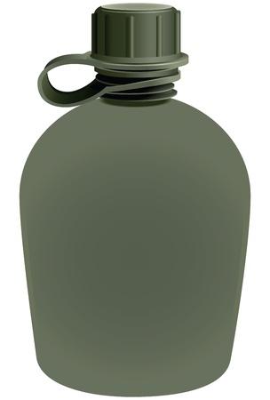 Jar of water use in the campaign. Ilustração