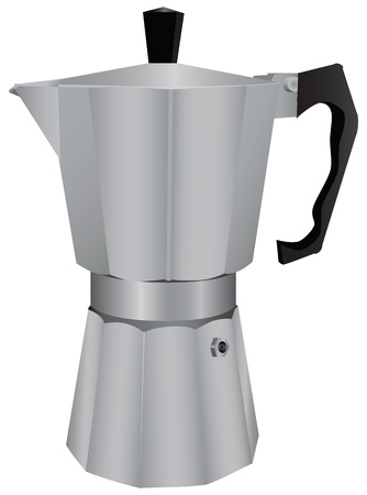 Classic coffee machine for espresso. Vector