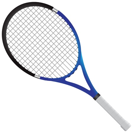 titanium: Tennis racket - tennis gear for the game.