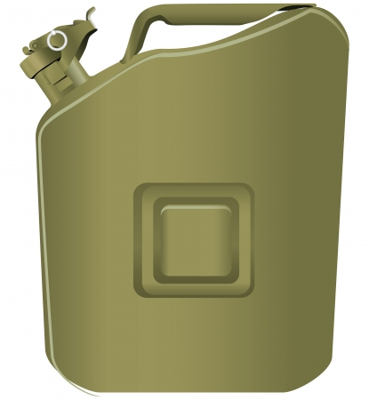 The steel canister of gasoline army type. Vector illustration. Stock Vector - 21929513