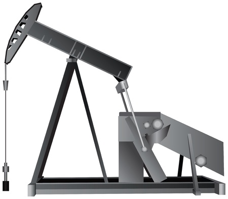 The oil pump to force oil recovery. Vector illustration. Vector