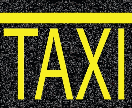 Road markings on the pavement. Parking space taxi. Vector illustration.