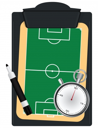 Set the coach for the game of soccer. Vector illustration.
