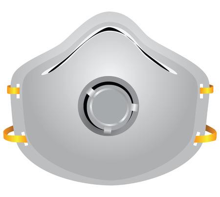 Industriële gasmasker beschermt tegen stof. Vector illustratie. Vector Illustratie