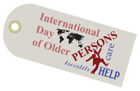 A shortcut to the International Day of Older Persons. Vector illustration.