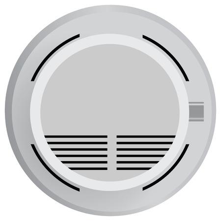 Smoke detector in fire safety. Vector illustration. Иллюстрация